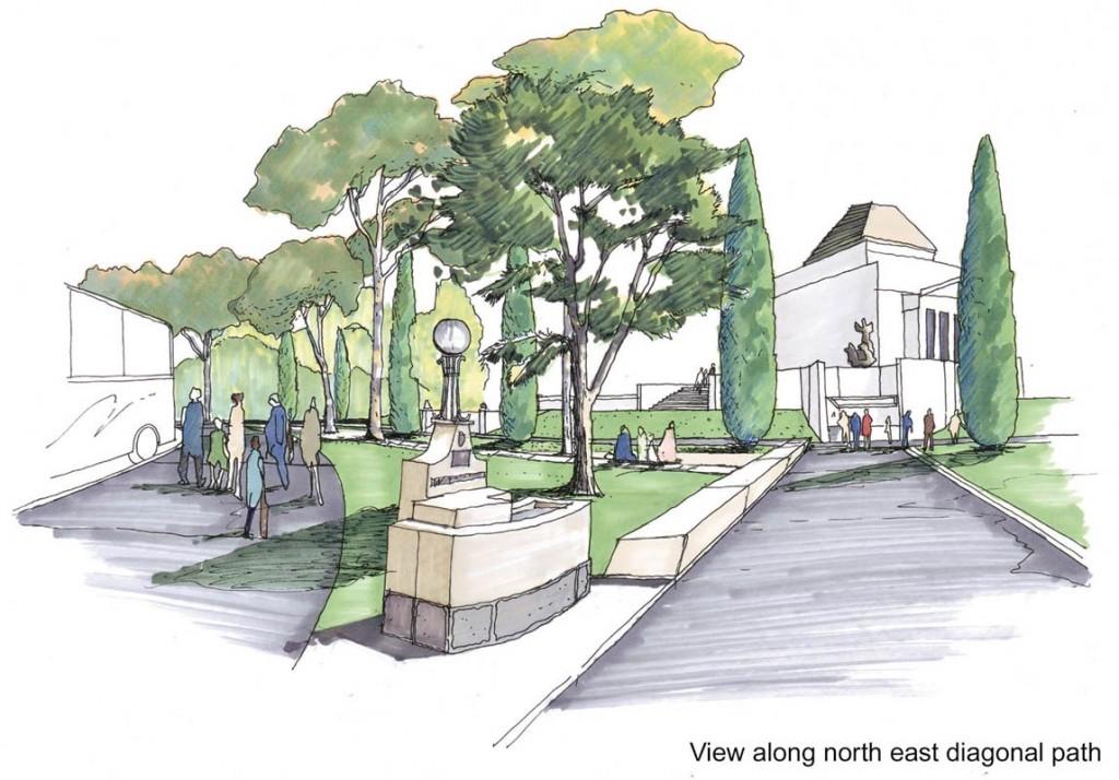 Shrine reserve landscape management plan rush wright for Landscape design sketches